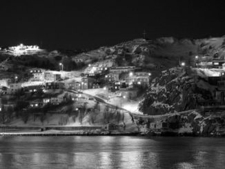 The Battery in St. John's at night