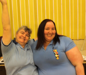 Girl Guide leader Donna Tuck and Waterford Valley district commissioner Stephanie Lawlor