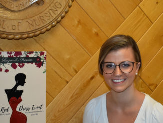 Stephanie Roberts a fourth-year Bachelor of Nursing Student and President of MUN Nursing Society, is the Planning Coordinator of the Red Dress Event along with Charity Drove. Melissa Wong/Kicker