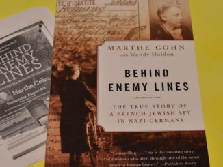 "Marthe Cohn told the story about her mysterious past in her book: ""Behind Enemy Lines: The True Story of a French Jewish Spy in Nazi Germany."" She spoke in a documentary and gives talks around the world to fight for a better future. Melissa Wong/Kicker"