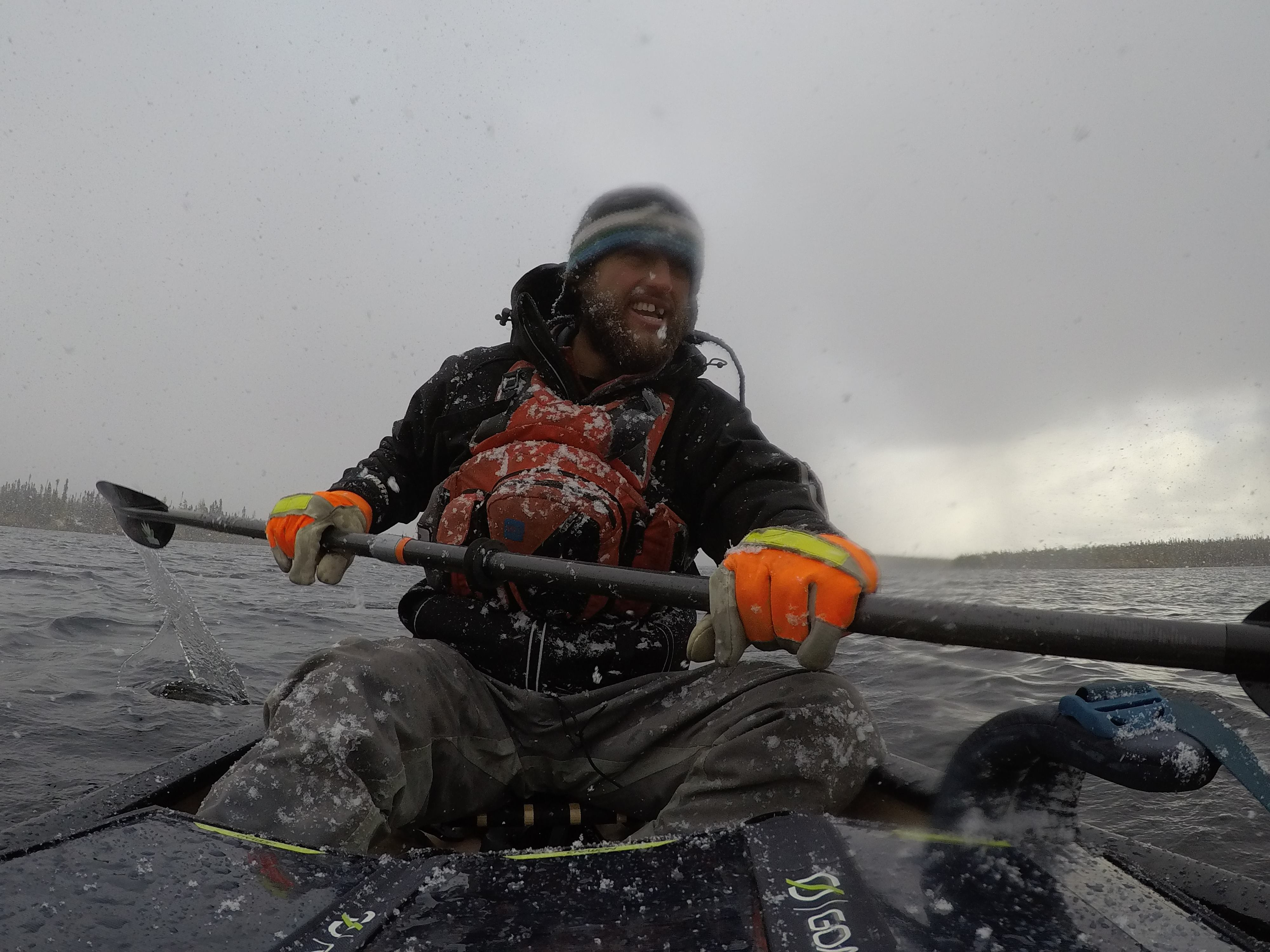 Justin Barbour, hiked and canoed 992 kilometers out of the 1700 kilometers. He faced -25 degree wind chills and 40 centimeters of snow. Submitted by Justin Barbour.