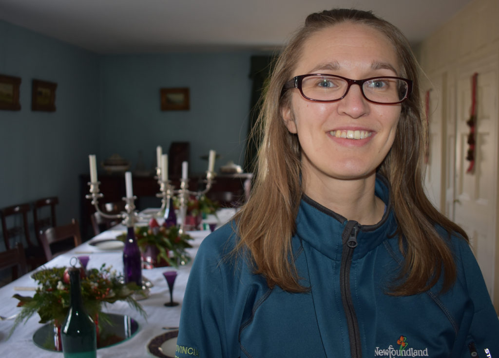 Eira Ducey is from Finland and has lived in Newfoundland for ten years now. This is her third Christmas at the Commissariat where she will be working in the kitchen. Melissa Wong/Kicker