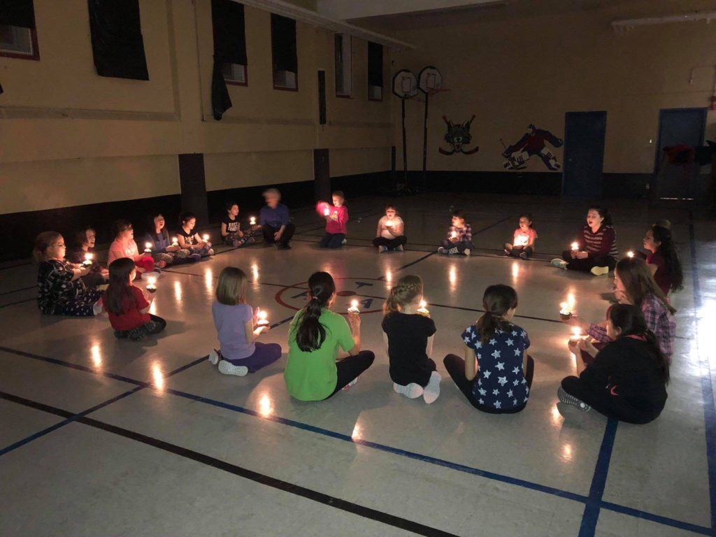The Cartwright girl guide unit has been meeting up for four weeks, all 21 girls are eager to learn more as the program continues. Submitted photo.
