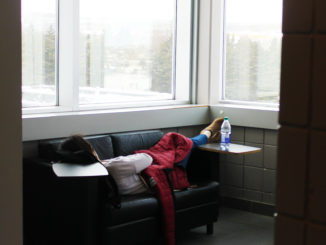 Girl sleeping in school