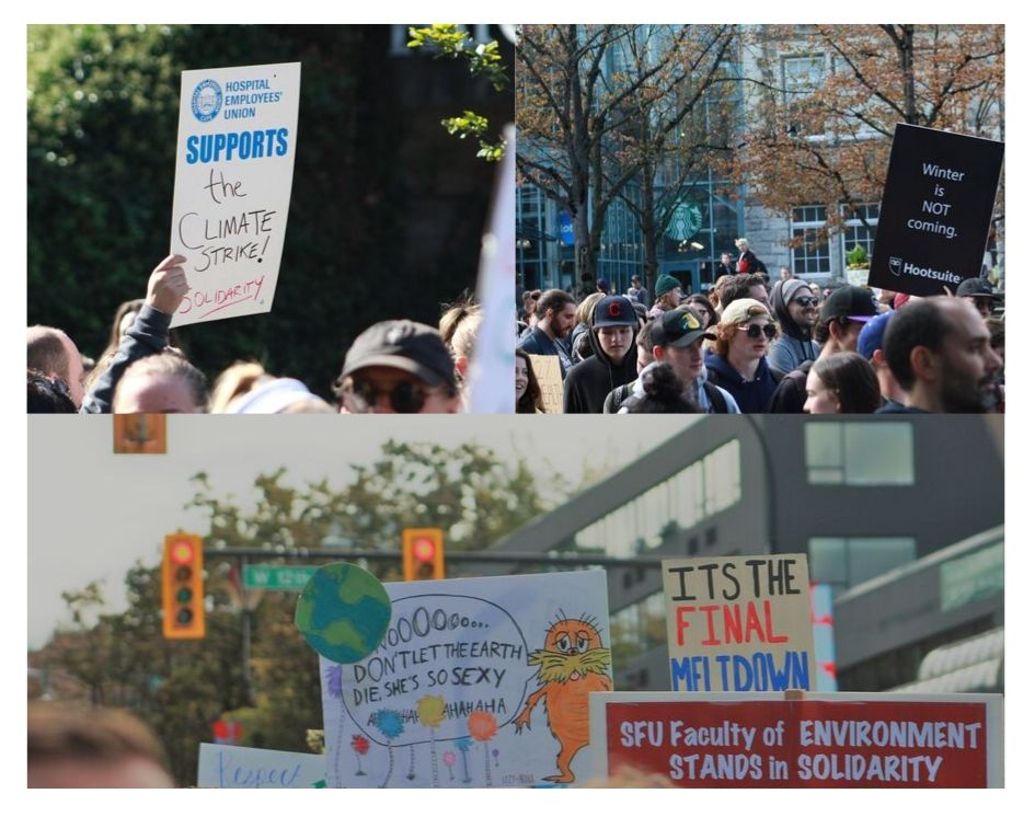 Unions, businesses, and faculties showed up in support of the event.