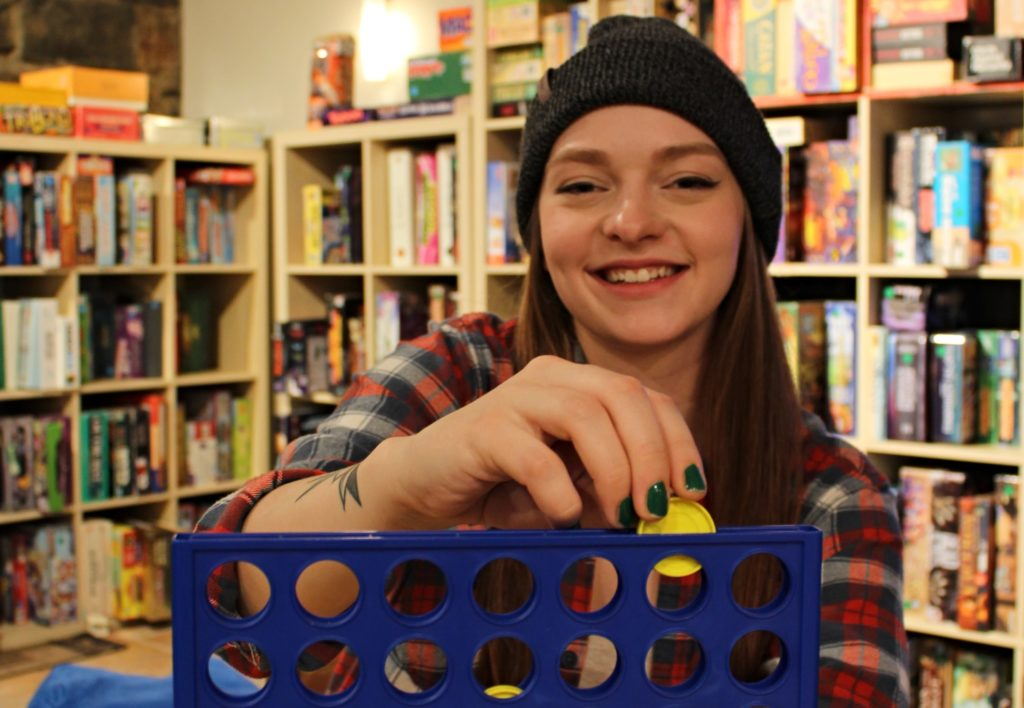 Courtney Sweetapple enjoys a game of connect four at Mochanopoly Board Game Café. This is one of her third places. Chantel Murrin/Kicker