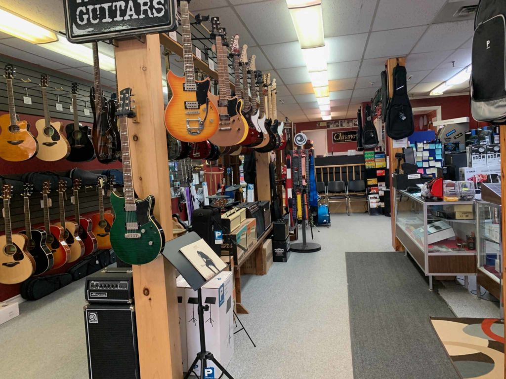 COVID-19 caused many businesses, like music stores, to close their doors. Music teachers at Gary Bennett Music in Corner Brook moved their lessons online. Supplied photo