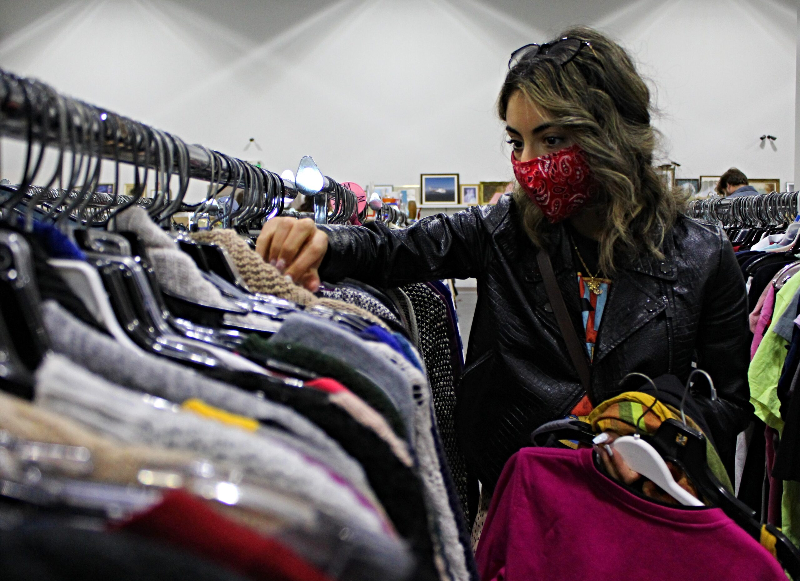 Marie Wasef started thrifting six years ago but has recently turned it into an online business. She spends hours a week picking apart local thrift stores hoping to find the right items to resell. Chantel Murrin/Kicker