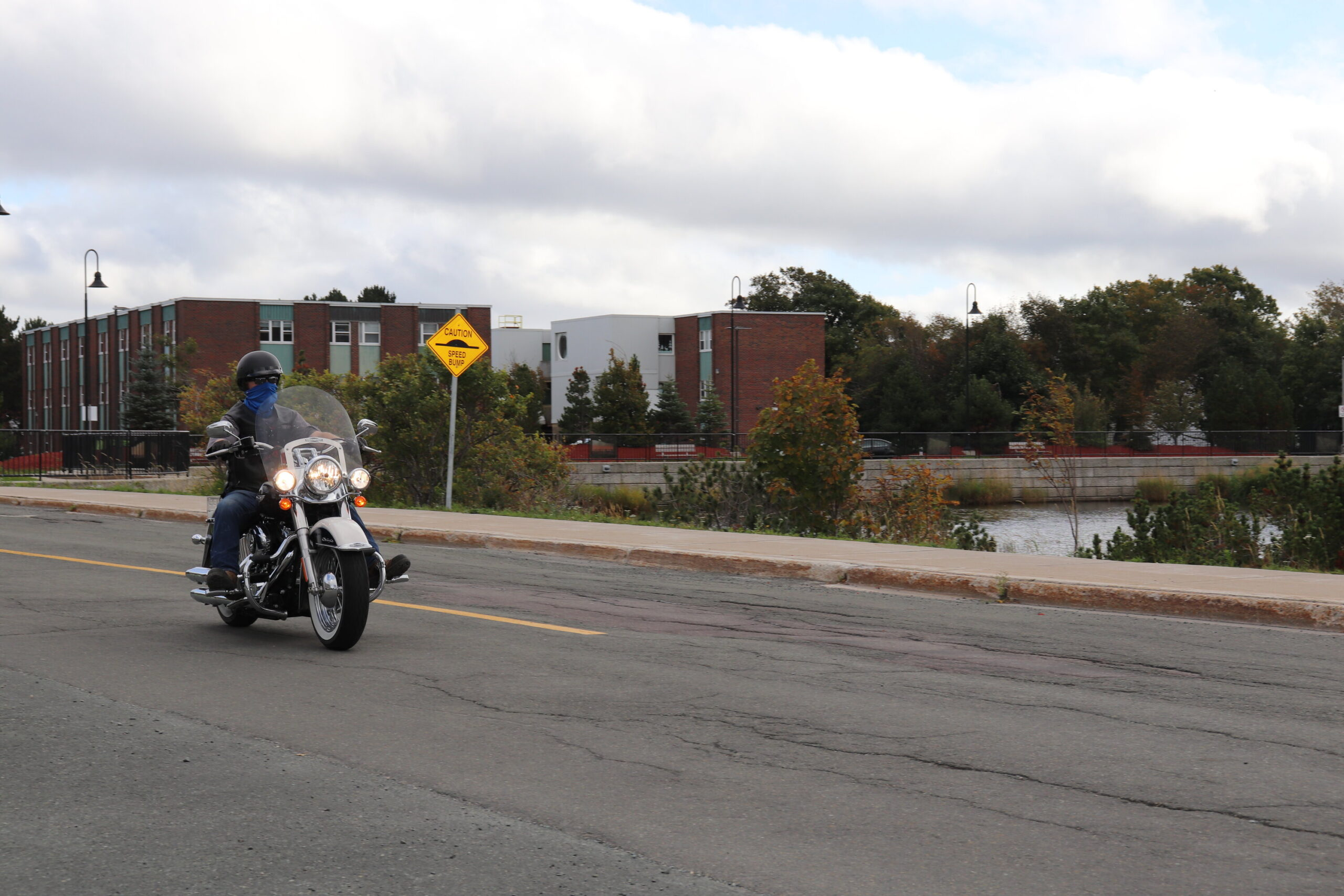 Motorcyclists enjoy a calm fall day. But the risks can be plentiful.