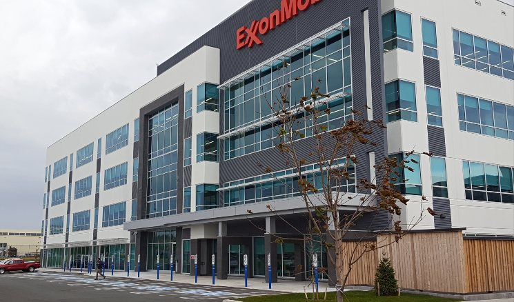 Exxon Mobile office building on Hebron Way.