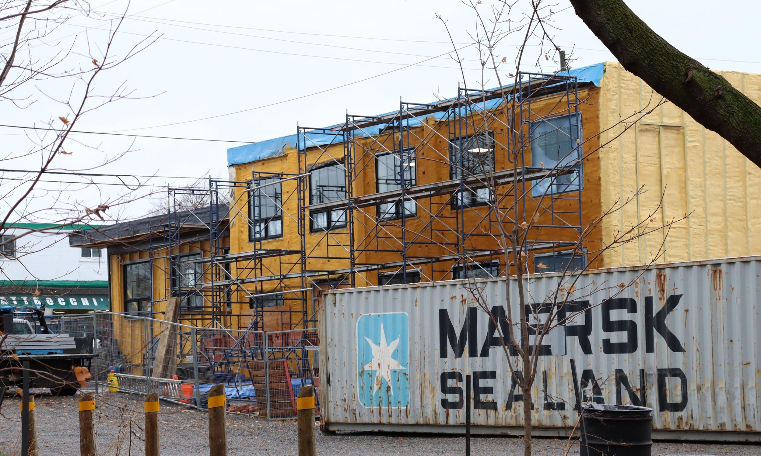 Image of the new Integrated Care Hub, which is still under construction but has begun serving people.