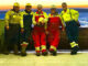 Fishermen from LaPoile rock their safety gear.