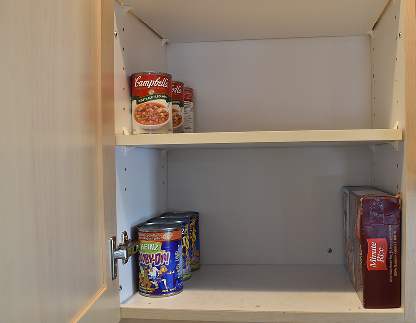 a near empty cupboard