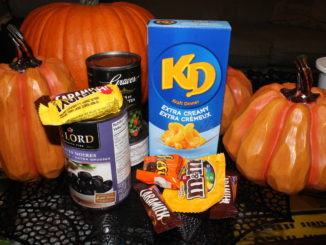 Food items and halloween items