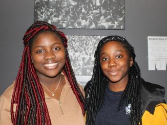 Nita Badaiki (left) and Laughter Afolabi (right) at Memorial University