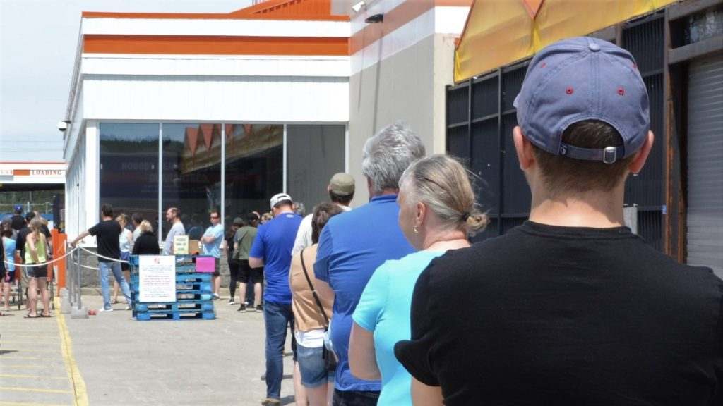 Since the spread of COVID-19 to Newfoundland and Labrador, long line-ups in front of stores have become part of people's everyday life. Physical distancing measures and the reduction of customers inside stores are meant to reduce the risk of infection.