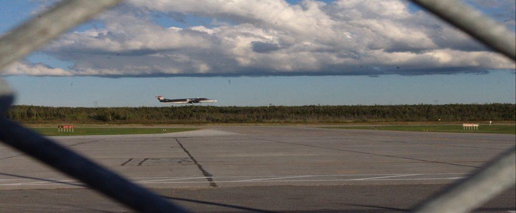 Deer Lake Airport cargo plane takeoff during COVID-19