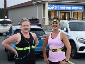 Runners Jessica Baker (left) and Victoria Barry (right) are members of the Sisters and Fitness running group. The groups membership has increased over the past few months.
