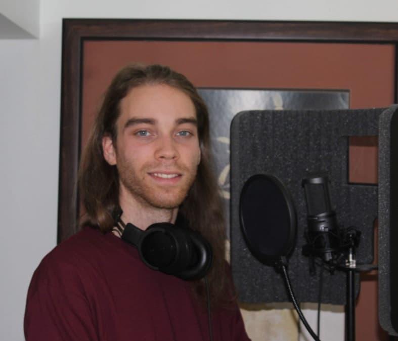 Joshua Roberts at his home studio