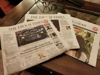 The sample Epoch Times newspaper that was delivered to Newfoundland residents.