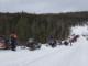 Snowmobile Conga Line